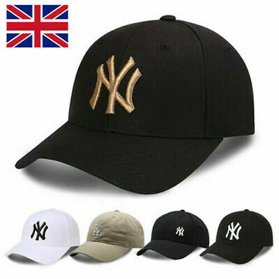 Unisex Mens Womens Baseball Cap Adjustable NY Snapback Sport Hip-Hop Sun Hat UK