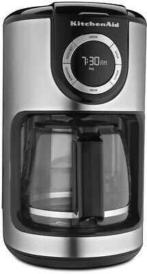 KitchenAid KCM1202OB 12-Cup Glass Carafe Coffee Maker - Onyx Black