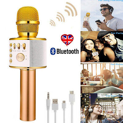 Gold Wireless Cordless DJ Karaoke Mic Microphone System Public Wedding Church UK