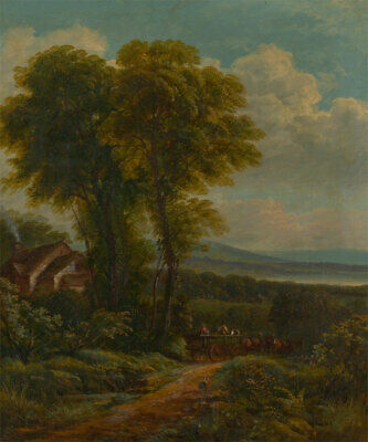 B. Turner - Signed Late 19th Century Oil, English Landscape with Horse & Cart