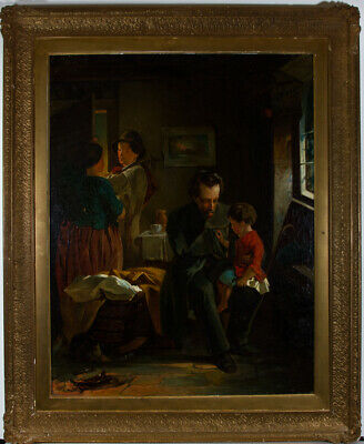 Fine Late 19th Century Oil - Glory, An Interior Scene