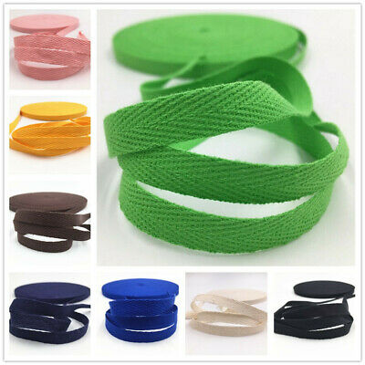 50/100Yards Webbing Natural Cotton Herringbone Webbing straps tapes 10mm wide