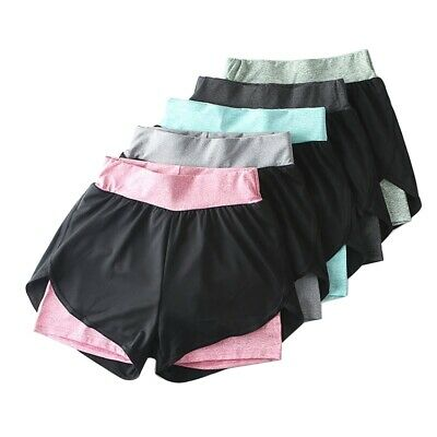 Women Sports Shorts Ladies Casual Quick Dry Summer Running Gym Yoga Hot Pants UK