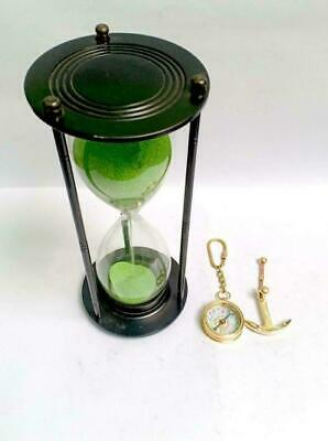 antique base | Hour Glass | | Sand Clock | Height 9.5 inches, diameter 4,breath