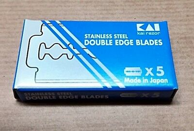 Lamette da barba,Kai double edge blades,made in japan,scatola 5 pz.,inox, 01782