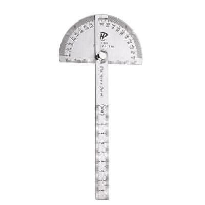 Stainless Steel 180 degree Protractor Angle Finder Rotary Measuring Ruler WT7n