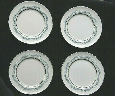 "4 Plates Denver Pattern by Aynsley-Bread/Butter-Bone China-6 3/8""-Scalloped Rim"