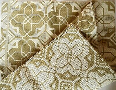 Crafts - Vintage Geometric Patterned Aida Canvas - 66 x 22 Inches