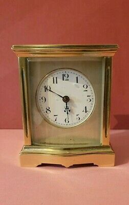 Antique Bow Fronted Carriage Clock  Small Size