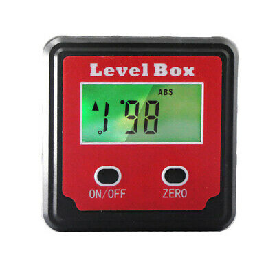 Digital Inclinometer Spirit Level Box Protractor Angle Finder Gauge Meters Bevel