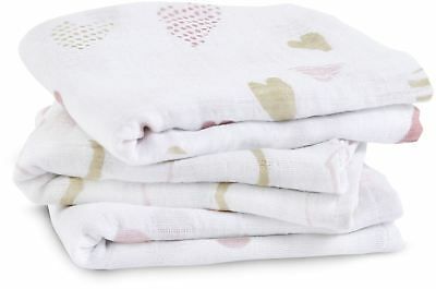 Aden + Anais CLASSIC MUSY - 3 PACK - HEART BREAKER Baby - BN