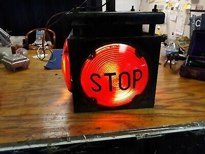 Rare 1940's Ohio DOT 4-Way Intersection Stop Light / Lamp. 4 Lens Electric WORKS