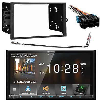 Kenwood Double DIN DVD Bluetooth Receiver, Dash Kit, Harness, Antenna Adapter