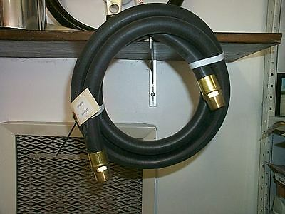 Gas Pump Hose New Rubber 3/4 In X 8Ft. Brass Ends