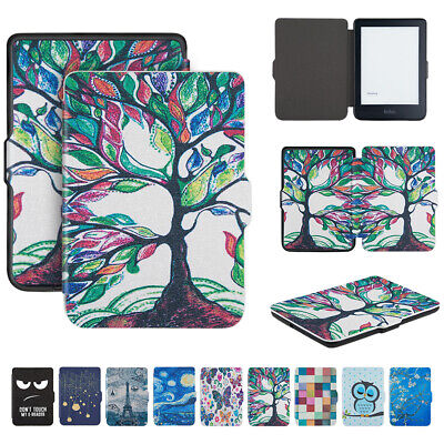 Painted Case Cover for Kobo Clara HD 6 inch eReader Leather Slim Lightweight