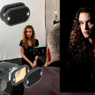 Camera Flash Speedlight Honeycomb Diffuser Grid Reflector & Magnetic Gel Ban