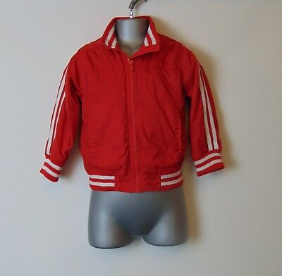 Cherokee Lightweight Showerproof Red & White Nylon Windcheater Jacket 3-4 yrs