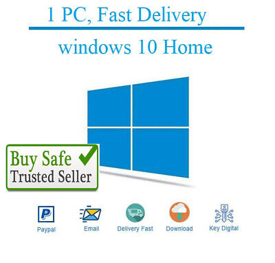 MS Windows 10 Home Premium 32/64 Bit Genuine Activation Code For 1 PC