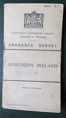Ordnance Survey N Ireland Map 1912 County Donegal Ulster Irish Linen Backed