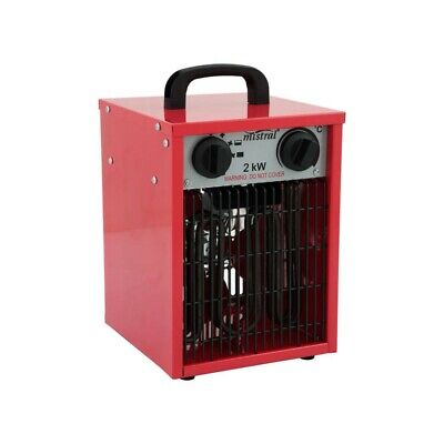 Industrial Fan Heater Electric Drum Cooler Garage Workshop Heavy Duty Ventilator