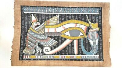 Eye Of Horus - Egyptian Old Papyrus Paper Hand Painting Shines In Dark (40X60Cm)