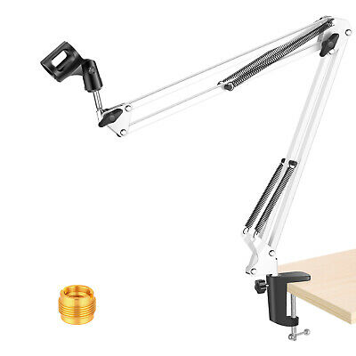 Neewer Adjustable White Microphone Suspension Boom Scissor Arm stand for Studio