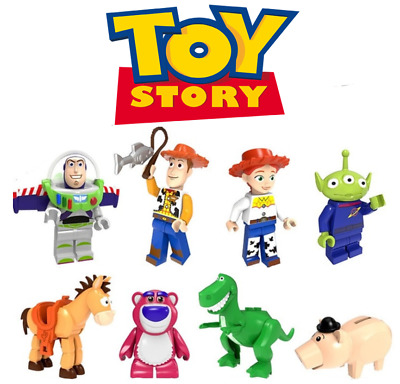 Toy Story Cartoon Movie Woody Buzz Lightyear Building Blocks Mini Figure Toy DIY