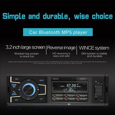 Double 2 DIN FM Player Bluetooth USB HD TF IPhone Car 3.2'' Stereo Radio Remote