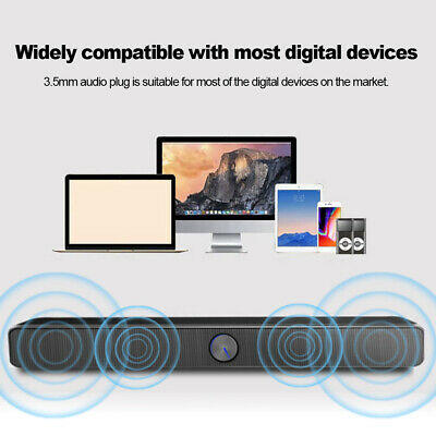 Home Powerful Music TV Sound Bar USB Speaker Bass Stereo Subwoofer For PC A0E6