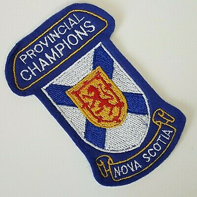 Nova Scotia Provincial Champions Nova Scotia Patch Badge Blue with NS Crest