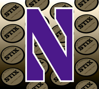 Northwestern Wildcats Logo NCAA Vinyl Die Cut Sticker Car Window Bumper Decal