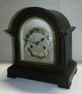 Antique Junghans Wurttemberg 8 Day Chime Bracket Mantle Clock Working B20