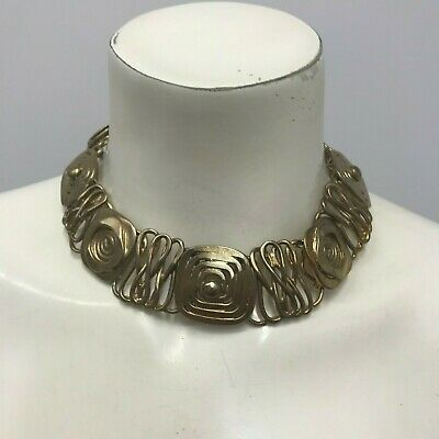 Vintage Moulage Modele Sterling Hand Made Necklace Weighs 218 Grams Work Of Art