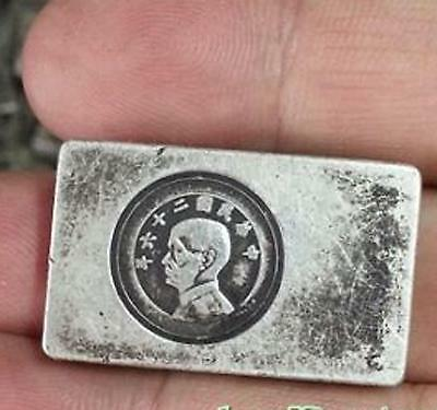Collectables! Rare China Qing dynasty Miao silver Pay soldiers silver bar