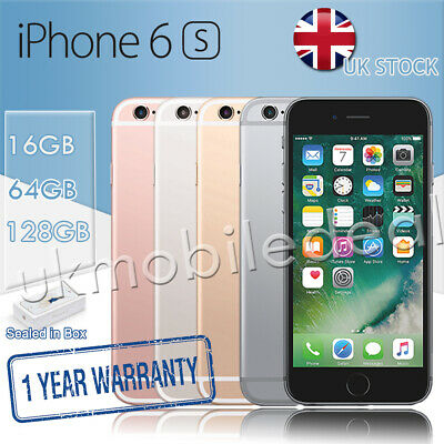 Brand New Apple iPhone 6S Unlocked 16 64 128GB Sealed In Box UK Stock 1Yr Wty