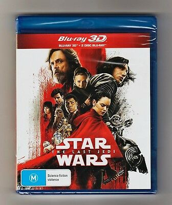 Star Wars The Last Jedi 3D Blu-ray + 2 Disc Blu-ray - Brand New & Sealed