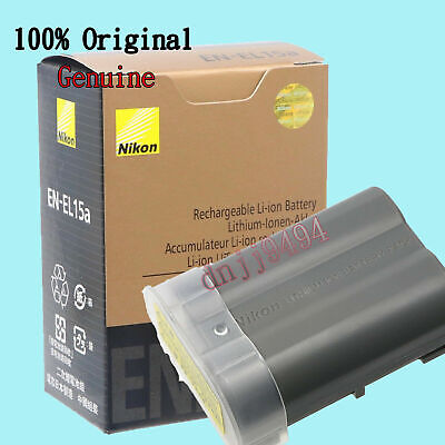 Original EN-EL15A Battery For Nikon D850 D7500 D750 D810 D7200 D7000 D7100