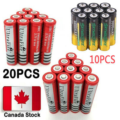 Lot 20* Ultrafire 6000mAh 18650 Battery 3.7V Lithium Rechargeable For Flashlight