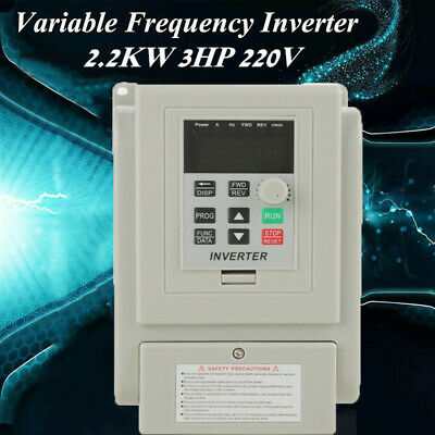 AC 220V 2.2KW 3-Phase Variable Frequency Drive Inverter CNC Motor VFD VSD Newest