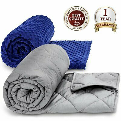 Weighted Blanket Queen Full 60''x80'' 15lb 20lb Reduce Stress Promote Deep Sleep