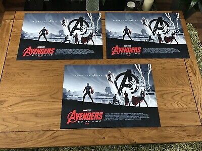 3 X Avengers End Game Limited Edition Exclusive Odeon A3 Posters- New - Free P&P