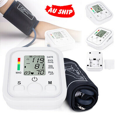 LCD Heart Meter Digital Blood Pressure Monitor Automatic Upper Pulse Arm Cuff