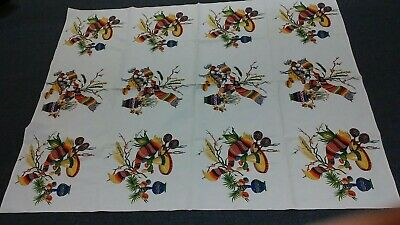 Vintage Wilendur Tablecloth Fiesta Mexican Design Colorful Cantina