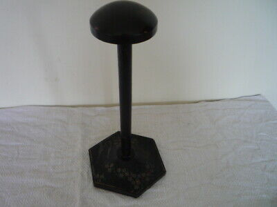 Vtg Chinoiserie Wood Millinery Hat Stand Shop Window Display Prop Chic Interior