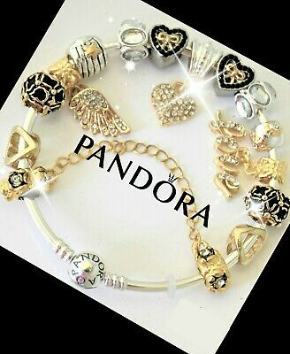 Pandora Bracelet Silver Gold Mom Angel Wing Mother Day with European Charms New