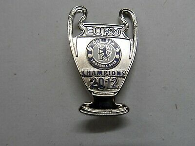 Football Badge Chelsea F.c.euro Champions 2012 Chrome Brooch Pin Fitting