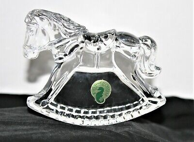 Waterford Irish Crystal Rocking Horse -Baby Shower Gift