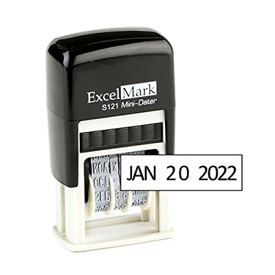 Self-Inking Date Stamp Office Address Stamper Custom Rubber Letter Personalized