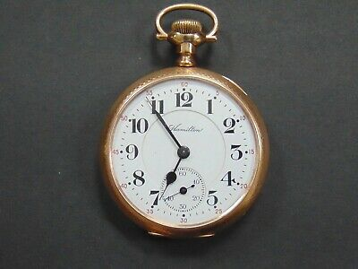 Hamilton 917 Movement Gold Filled Case Safe Driver Award Norunning Pocket Watch Watches, Parts & Accessories