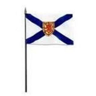 3 Nova Scotia Ns Provincial 12 X 18 Inch Large Stick Flags With 2 Foot Pole New